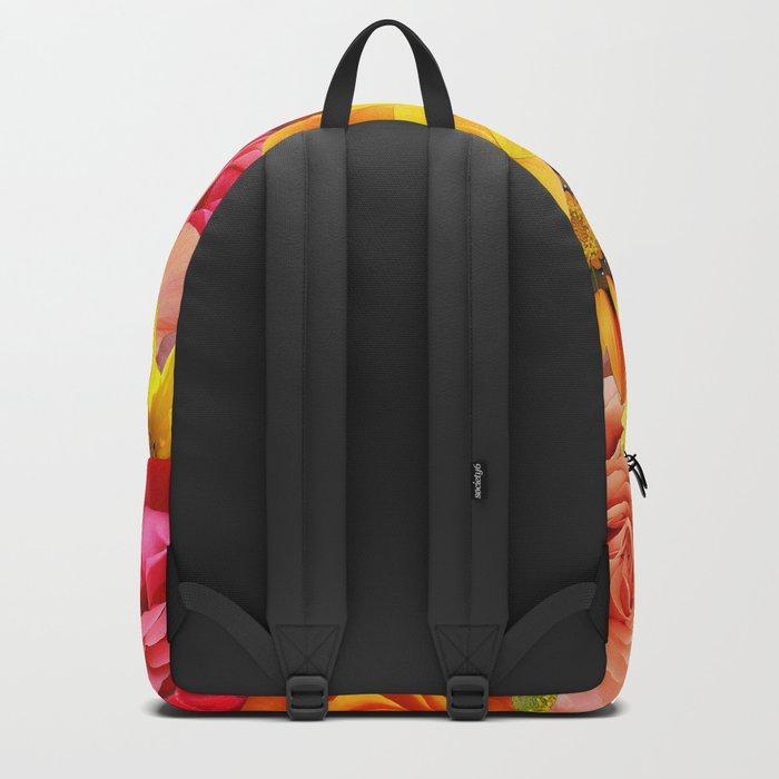 ORANGE FLOWERS Backpack