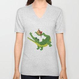 The Alligator and The Armadillo Unisex V-Neck