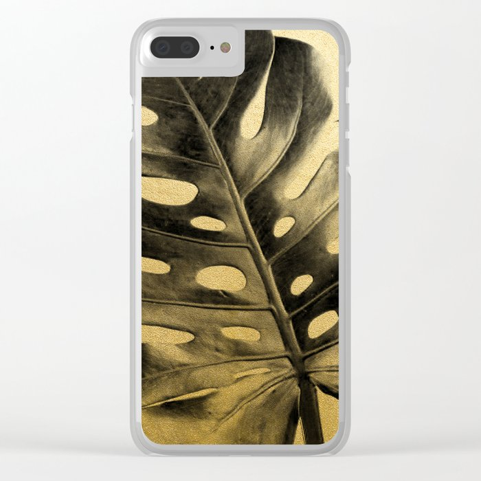Golden Palms 02 Clear iPhone Case