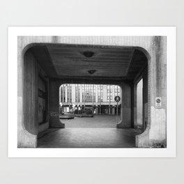 Asymmetrical Brutalist - Padua Art Print