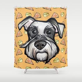 Peter loves pizza and cheese Shower Curtain
