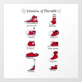 Variations of Converse Art Print