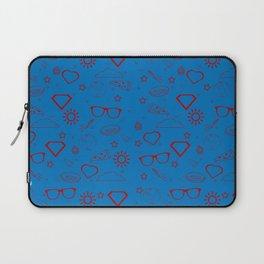 Supergirl/Kara's pattern - red Laptop Sleeve