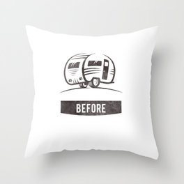 Camping nature Shirt - Adventure before dementia Throw Pillow