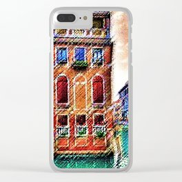 Canals of Venice, Italy Watercolor by Jéanpaul Ferro Clear iPhone Case