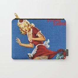 Fresh Lobster! - Satirical Pin Up Girl Waitress Motif Carry-All Pouch