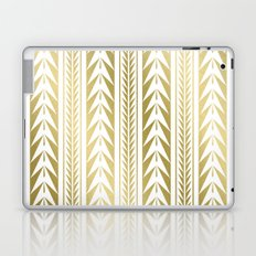 Tribal Stripes Gold Laptop & iPad Skin