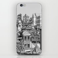 seoul iPhone & iPod Skins featuring Seoul Rooftops by Jennifer Stinson