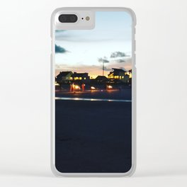 Sparklers at dusk Clear iPhone Case
