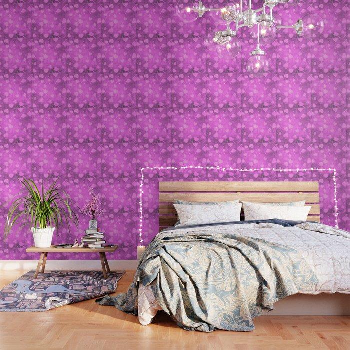 Soft Pink Romantic Heart Pattern Wallpaper