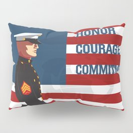Honor, Courage & Commitment Pillow Sham