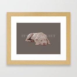 Weim 006 Framed Art Print