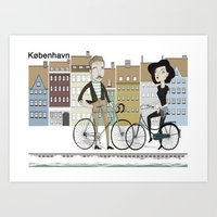 copenhagen Art Prints featuring copenhagen by Rich Orr