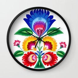 folk flower Wall Clock