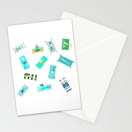 Surfer Boys and Beach Babies 2 Stationery Cards