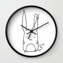 Poot the Bunny Wall Clock