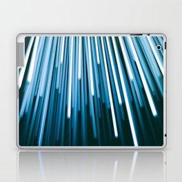 Hyperspace Fiber Optics Blue white Streaks Of Light Laptop & iPad Skin
