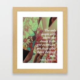 John E. Southard Quote Framed Art Print