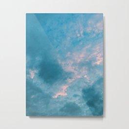 Pink in blue Metal Print