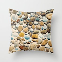 Pebble Rock Flooring VI Throw Pillow