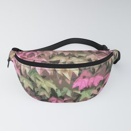 Lush of Pink and Green Leaves Fanny Pack