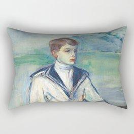 """Henri de Toulouse-Lautrec """"L'Enfant au chien, fils de Madame Marthe et la chienne Pamela-Taussat"""" Rectangular Pillow"""