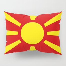 Flag of Macedonia - authentic (High Quality image) Pillow Sham