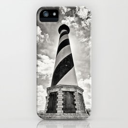 Cape Hatteras Lighthouse, Outer Banks NC (Black & White/Sepia-toned) iPhone Case