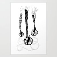 Lady Wheels Art Print