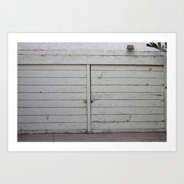 Los garajes blancos. Art Print