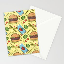 Delicious, Greasy Food Stationery Cards