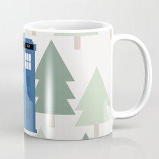 TARDIS lands in the Pacific Northwest Pine Tree Forest - Oregon, Washington, Portland, PDX, Seattle Mug
