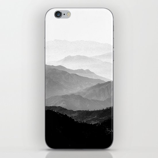 Mountain Mist - Black and White Collection iPhone & iPod Skin