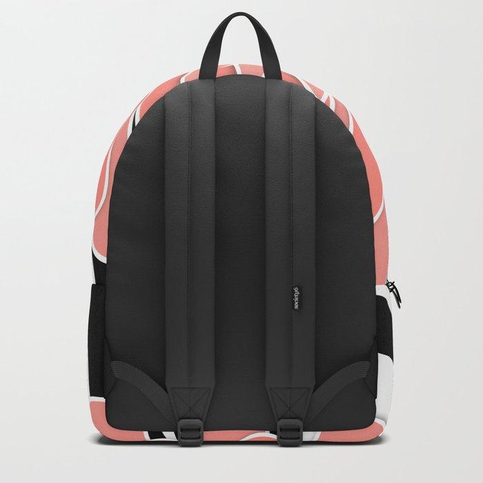 Coral flower . Backpack