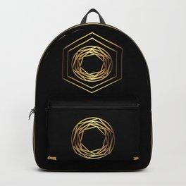 Golden geometry Backpack