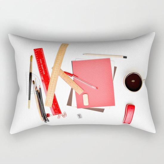Coffee cup mug desk Rectangular Pillow