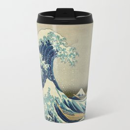 Great Wave Off Kanagawa (Kanagawa oki nami-ura or 神奈川沖浪裏) Travel Mug