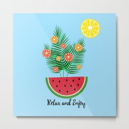 Hello Summer - relax and enjoy Metal Print