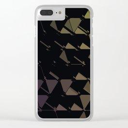 3D Futuristic GEO BG Clear iPhone Case