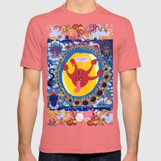 Irrevence Mandala SMALL Mens Fitted Tee Pomegranate