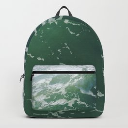 Sea Foam Green Ocean Wave Photograph Backpack