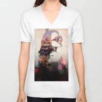 lindsay lohan V-neck T-shirts featuring LA - LOHAN by Tiaguh