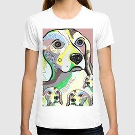 Beagle and Babies Soft Color Palette T-shirt