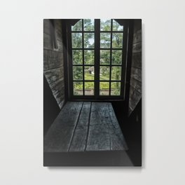 the view from the attic window Metal Print