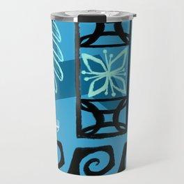 Hawaiian Pattern #1 - aqua! Travel Mug