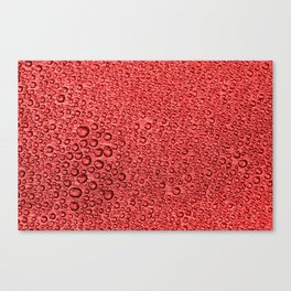 Water Condensation 05 Red Canvas Print