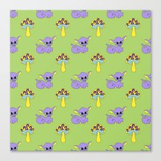 Psychedelic Woodland Lilac Deer Canvas Print