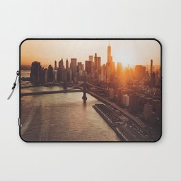 nyc aerial view Laptop Sleeve