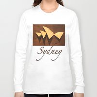 sydney Long Sleeve T-shirts featuring Sydney by Mike Thomas Portraiture