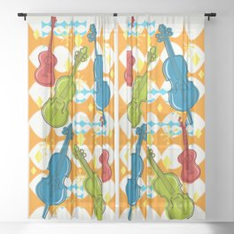 Sunny Grappelli String Jazz Trio Composition Sheer Curtain